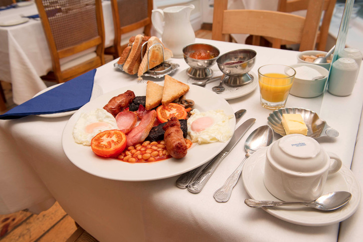 Hearty Yorkshire breakfast is included in the room rate